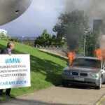 Išreikšdamas nepasitenkinimą BMW marke – padegė 7 serijos sedaną