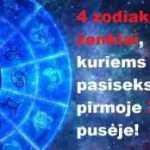 4 zodiako ženklai, kuriems labai pasiseks pirmoje 2019 m. pusėje!