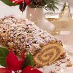 Kalėdinis riešutų vyniotinis su varške