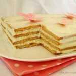 Nekeptas citrininis sausainių tortas