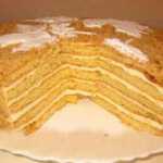 Biskvitinis medaus tortas, receptas